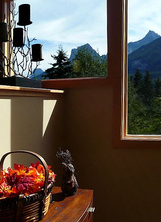 Mountain Views and sunlit interiors