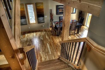Fine Wood Details in Elk Run Custom Homes